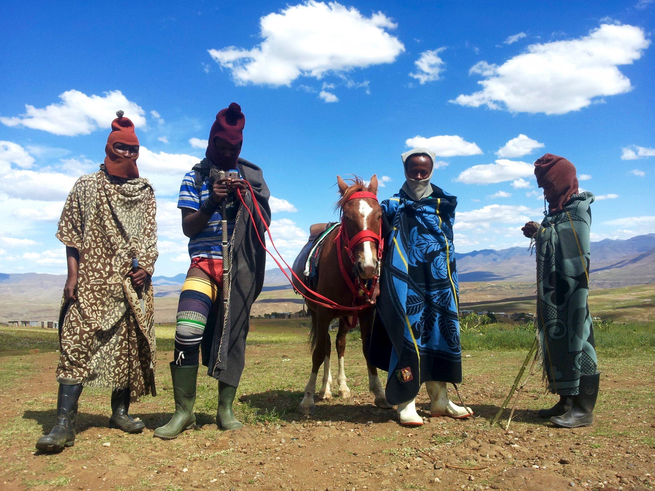 Lesotho Shepherds near Hakenene, Mashai